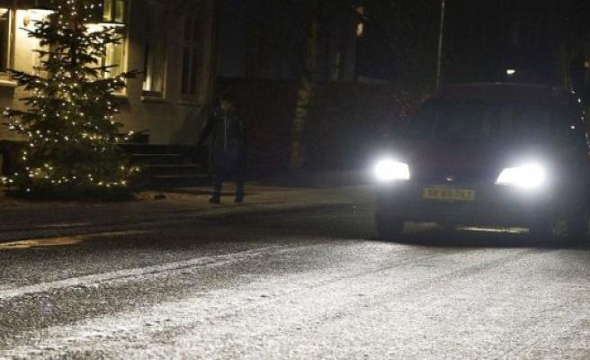 DMI warns of slippery roads