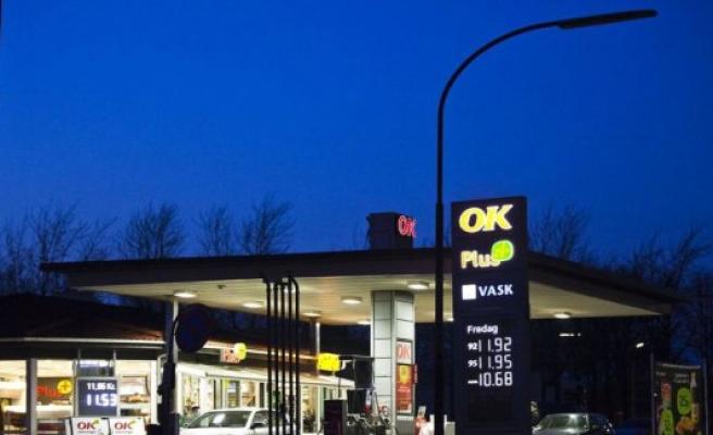Gas station in kæmpebrøler: Mixed petrol and diesel