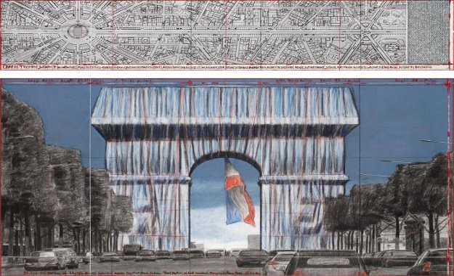 Christos last project: arc de Triomphe in Paris is shrouded in 2021