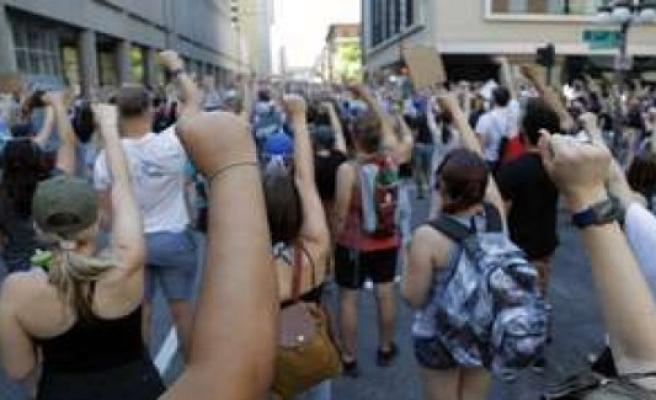 Stuttgart, Germany: Black lives mattermovement - two Demos against racism   politics