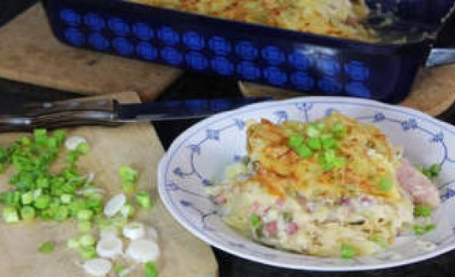 What I cook today: Creamy-crunchy Rösti casserole with smoked pork and Sauerkraut   enjoyment