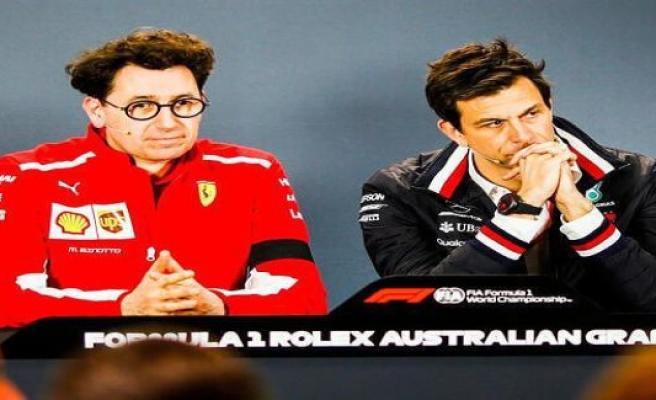 Mattia Binotto: side-swipe at the Mercedes in the FIA-PK