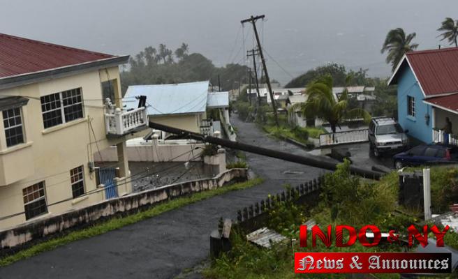 Tropical Storm Elsa blowing along Cuba's southern coast
