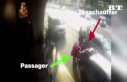 Violent scene: taxi driver gives fist