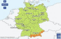 The German weather service warns of rain