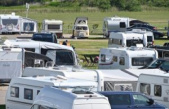 The North sea coast attributed to the Easter weekend with a rush of permanent campers