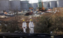 Japanese a-work will close the radioactive water out in the wild