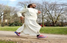 Marathon father wants to live like Jesus Tobias has been running for years, for donations