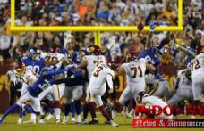 Hopkins converts to 2nd chance, Washington defeats Giants 30-29