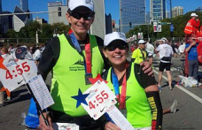 'I wanted to run with her just to be with her'; Couple running 100th marathon together in Chicago