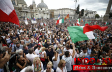 Rome marchers protest against the vaccine rule
