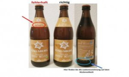 Accidentally as alcohol-free tags: Karl Berg is calling back bottles of beer