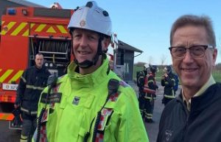 The fire on the politician Asger Christensen's farm:...