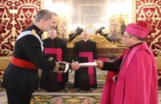 The new vatican nuncio delivered his credentials to...