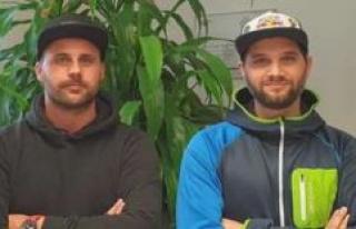 Hockey national League Armin Dallmayr and Martin Kirschner,...
