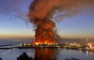 San Francisco (USA): Devastating fire! Historic Pier...
