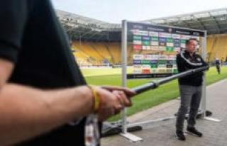2. League: Dresden-coach Kauczinski snapping TV-Reporter...
