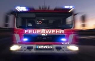 Diez/Limburg in the Diez: fire-extinguishing work...
