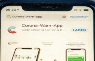 German Corona-Warning-App is presented in the morning...