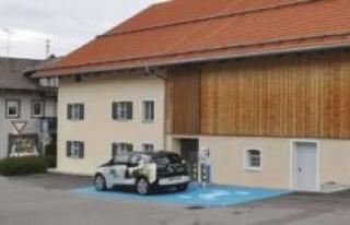 Lampl-estate located in Bad Kohlgrub: blue marker...