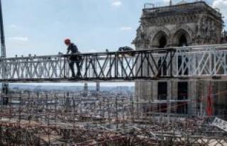 Notre-Dame of Paris : how the cordistes strip léchafaudage...