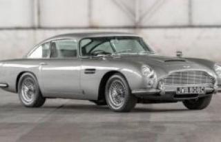Aston Martin DB5: a replica of James bond's car