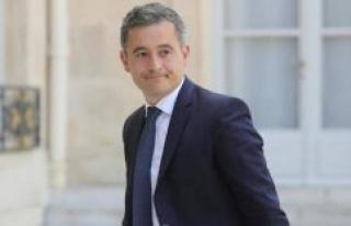 Gérald Darmanin in Saint-Étienne-du-Rouvray in tribute...