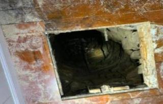 In the six-Meter-deep wells like: man breaks through...