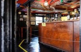 Social Distancing the hard way: pub landlord installed...