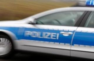 The police headquarters of Neubrandenburg, a crash...