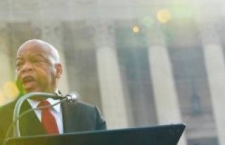 United states : John Lewis, figure of civil rights,...