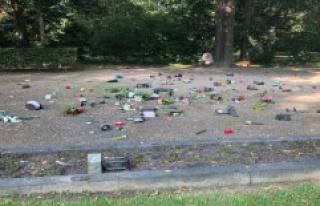 Unknown ravage 56 graves in Krefeld cemetery