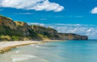 Colleville-sur-Mer: The beach, the third Reich died