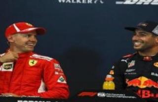 Daniel Ricciardo: Sebastian Vettel is not running...