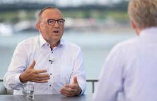 SPD-Chef Walter-Borjans, flirting in the ZDF-Interview...