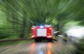 Simmern: fire brigade forest fire in the Hunsrück...