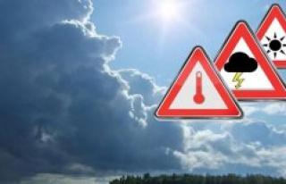 The Highest Warning Level! Here, severe Thunderstorms,...