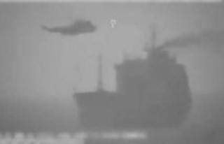 The impressive images of larraisonnement a tanker...