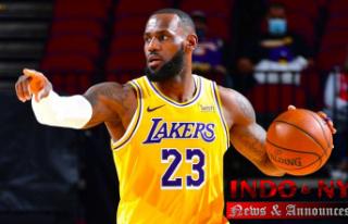 Los Angeles Lakers' LeBron James Speaks Brooklyn...