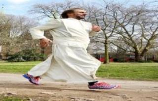 Marathon father wants to live like Jesus Tobias has...