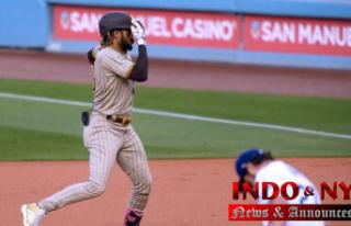 San Diego Padres' Fernando Tatis calls post-homer...