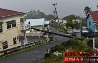Tropical Storm Elsa blowing along Cuba's southern...