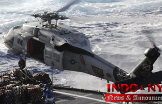 Continued search for missing Navy sailors after a...