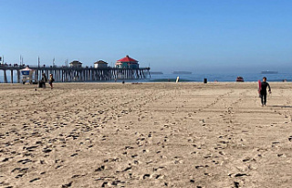 After an oil spillage, California's Surf City...