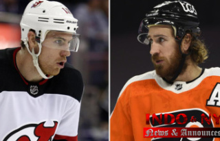Playing for Jimmy: Grieving Hayes suits up for Flyers...