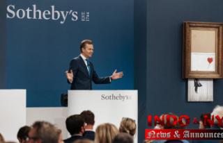 Shredded Banksy artwork sells for $25.4 million at...