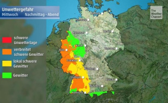 Red alert: German weather service warns of severe thunderstorms