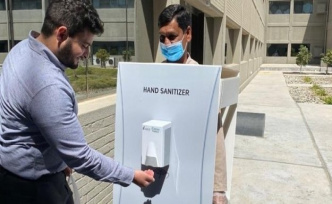 Oil giant miss guest worker needs as disinfection dispenser