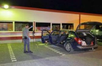 Bad Brückenau (Bavaria): man aims at control with the gun on police, shot dissolves, Bavaria, Germany