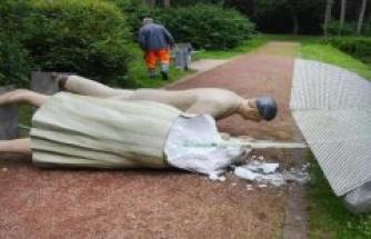 Moers/Gütersloh: art figures everyday people destroyed in other cities